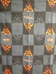 ROAD TRIP Logo HARLEY DAVIDSON Signs White Quilting Fabric 30