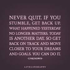 Get Back Up Quotes
