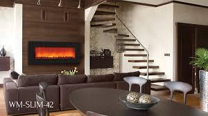 sierra flame slim wall mount electric fireplace 42 ww slim 42