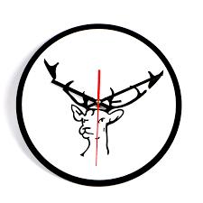large office wall clocks. msparkling modern design wall clock deer home office cafe decoration art large watch horloge clocks
