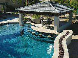 pool designs with bar. Modren Bar SwimUp Pool Bar Ideas201 Kindesign Intended Designs With U