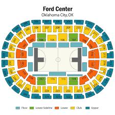 Oklahoma City Thunder Seating Chart Thelifeisdream