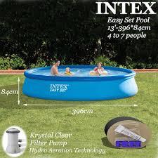 intex easy set pool. INTEX 13ftx33in Easy Set Pool Kit*396x84cm*Above Ground Pool*Swimming Pool* Intex O