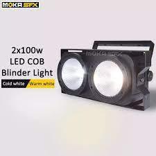 Seyirci Blinder Işıkları 2 Göz Cob Par Işık 2*100W Led Matrix Blinder Işık  DMX Kalabalık Körleri Açtı sahne Aydınlatma Etkisi|Stage Lighting Effect