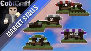 Minecraft Marketplace Design How To Build Market Stall 4 Kinds Minecraft Tutorial