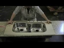 install an undermounted stainless steel sink in a laminate countertop
