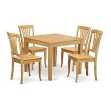 east west furniture oxav5oakw 5piece kitchen table and chairs set oak finish see this great contemporary dining room