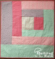 Quilt as you Go Log Cabin Tutorial | Quilting in the Rain & Final quilt measures approximately 33″ x 36″. It makes a lovely  wall-hanging or baby quilt. Adamdwight.com