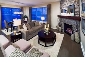 contemporary living room with corner fireplace. You Can Position Your Sofa To Be Parallel With A TV On Straight Wall Adjacent The Fireplace Without Corner Of Being Too Close Contemporary Living Room C