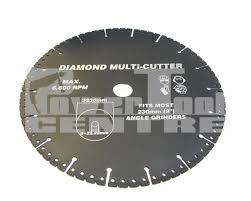 diamond coated multi cutter saw blade 230mm cuts ferrous metals fibre glass