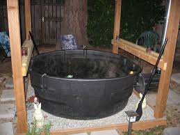 a wood fired stock tank hot tub alternative energy forums thehomesteadingboards com farm idas stock tank hot tubs and tubs