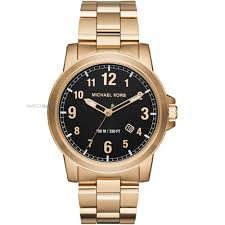"gold colour watches watch shop comâ""¢ mens michael kors paxton watch mk8555"