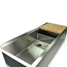 Sink With Cutting Board 1 2 Radius 50 Ledge Double Bowl Sink Offset Drain Reversible