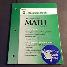 Mcdougal Littell Pre Algebra Chapter   Resource Book Answers