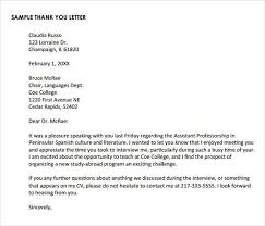 Ideas Of Thank You Letter After Telephone Interview Samples On Thank