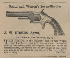 originally called the seven shooter the model 1 was introduced in 1857 this 22 rim fire revolver was the first practical cartridge revolver and its