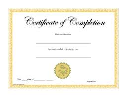 Templates For Certificates Of Completion Free Printable Certificate Of Excellence Template