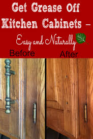 how to clean grease off wood kitchen cabinets photos