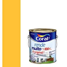 Uso indicado, o produto foi desenvolvido tanto para ambientes internos como externos. Tinta Acrilica Fosco Rende Muito Amarelo Frevo 3 6l Coral Padovani