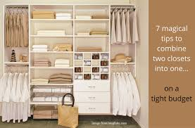 7 magical tips to combine two closets into one on a tight budget innovate home