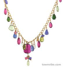 5 a really nice necklace everyone needs one like this multi jeweled piece 22kt gold with faceted and cabochon cut rubelite peridot tanzanite prehnite