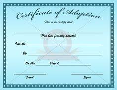 parenting certificate templates adoption certificate template certificate templates certificate