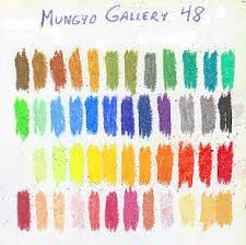 Color Chart Of 48 Mungyo Gallery Oil Pastels On White