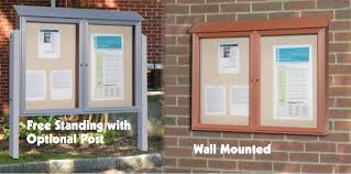 Heavy Duty Outdoor Message Centers Bulletin Boards Allen Display Beauteous Exterior Bulletin Boards Model Collection
