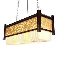 elegant rectangular fabric chandelier or 39 rectangular fabric shade chandelier
