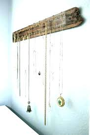 hanging necklace organizers wall necklace organizer necklace wall