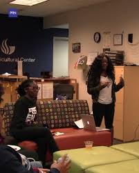"""PRN on Twitter: """"Danielle Holmes @Thee_CrownJewel , founder of the  @CrownJewels_GSU dance team, hosts a panel to address the issue of colorism  in the community. Reporter: Hillary Payne Watch the rest of"""