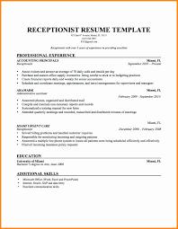 7 Receptionist Resume Sample How To Make A Cv