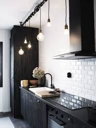 industrial lighting bathroom. Black And White Kitchen Does It Get Any Better Than Pairing Classic Subway Tile With Industrial Lighting Ebony Cabinets? This Is My Dream Kitchen! Bathroom L