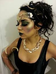 medusa makeup we like the overall makeup and the use of gold accessories now go