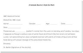 Fake Doctors Note Template Sick Dr Uk Dates Companydata Co