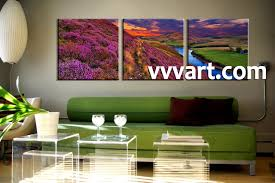 living room wall art 3 piece huge group canvas shrubs multi panel art  on huge wall art pieces with 3 piece river landscape purple huge canvas art