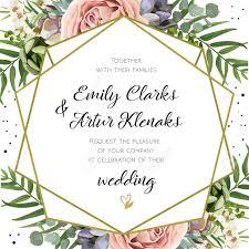 Wedding Invitation Floral Invite Card Design Peach Lavender