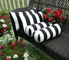 set of 4 black white stripe rectangle bolster pillows indoor outdoor cushions australia