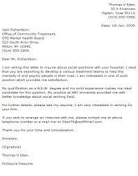 Social Work Cover Letter Examples Resume Badak