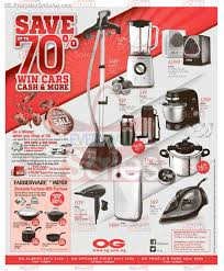 Kitchen Appliances Singapore 20 Jun 28 Jul 2014 Og Singapore Great Discounts Sale For Small