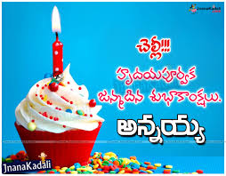 Unique Happy Birthday Wishes To Brother In Telugu Top Colection