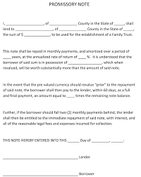 Promissory Note Word Template Download Personal Loan Agreement Template Word Doc