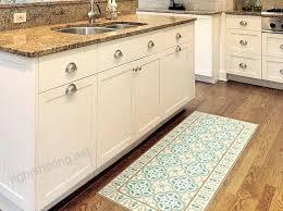 green vinyl mat vintage tiles with decorative frame linoleum area rug floor rugs pad