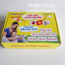 Thẻ học thông minh Flashcard size A5 dày to nhất dạy trẻ thế giới xung  quanh và dạy trẻ tập nói tập đọc