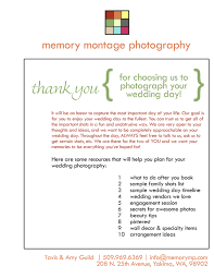Wedding Photography Welcome Packet Business Form For
