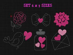 Romantic Embroidery Designs Love Embroidery Design Wedding Flower Machine Embroidery