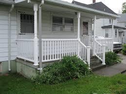 outside wood stairs deck landing designs wooden steps prefab
