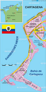cartagena tourist map  cartagena columbia • mappery