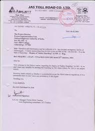 correspondence issuee tumkur neelmangala concessionaire