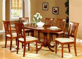 cherry wood dining table. Dining Room Decoration Using Double Pedestal Cherry Wood Oval Kitchen Table And Chairs Including K